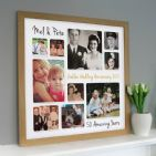 Personalised Golden Wedding Anniversary Photo Collage